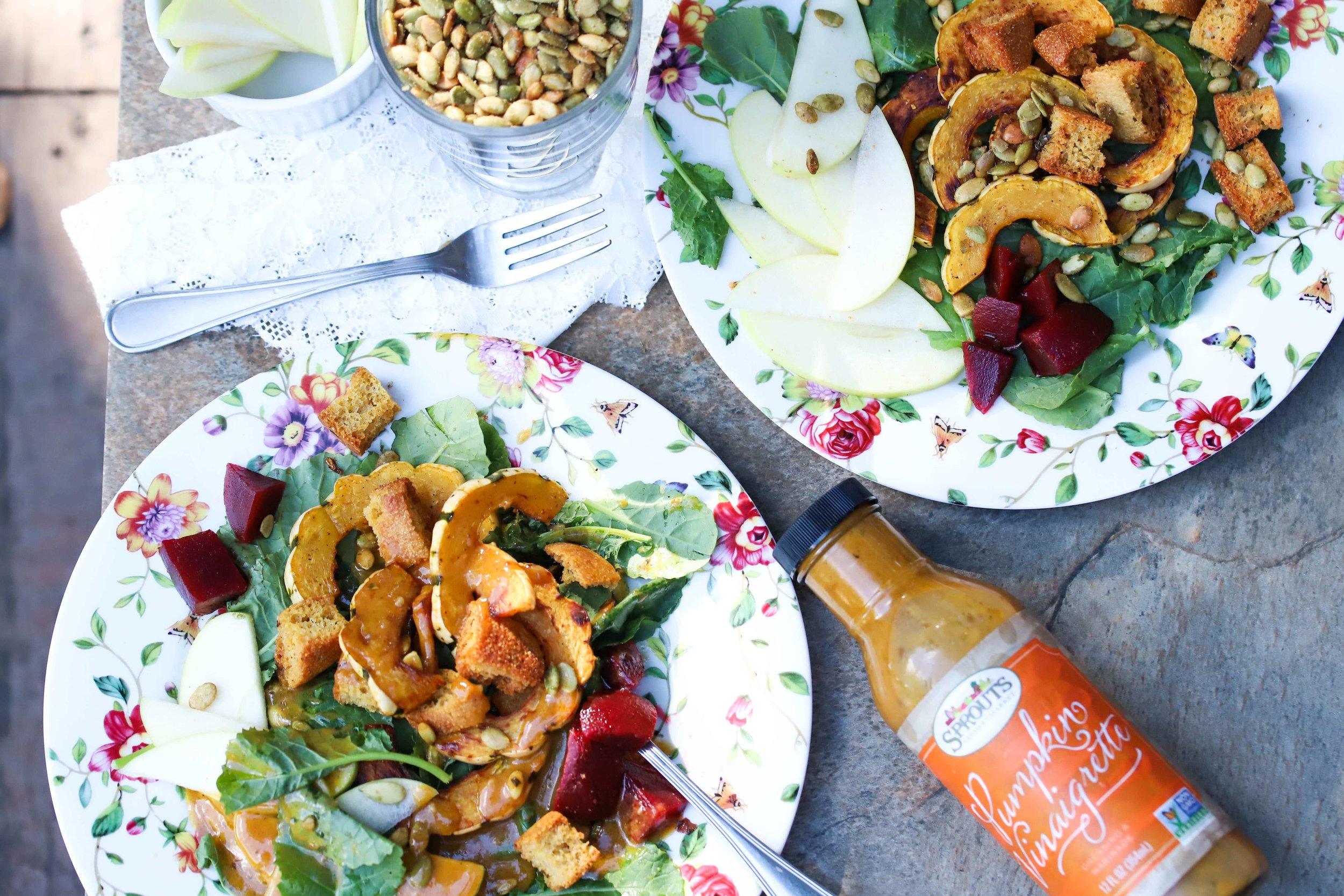 Fall Salad, Autumn Salad, Healthy