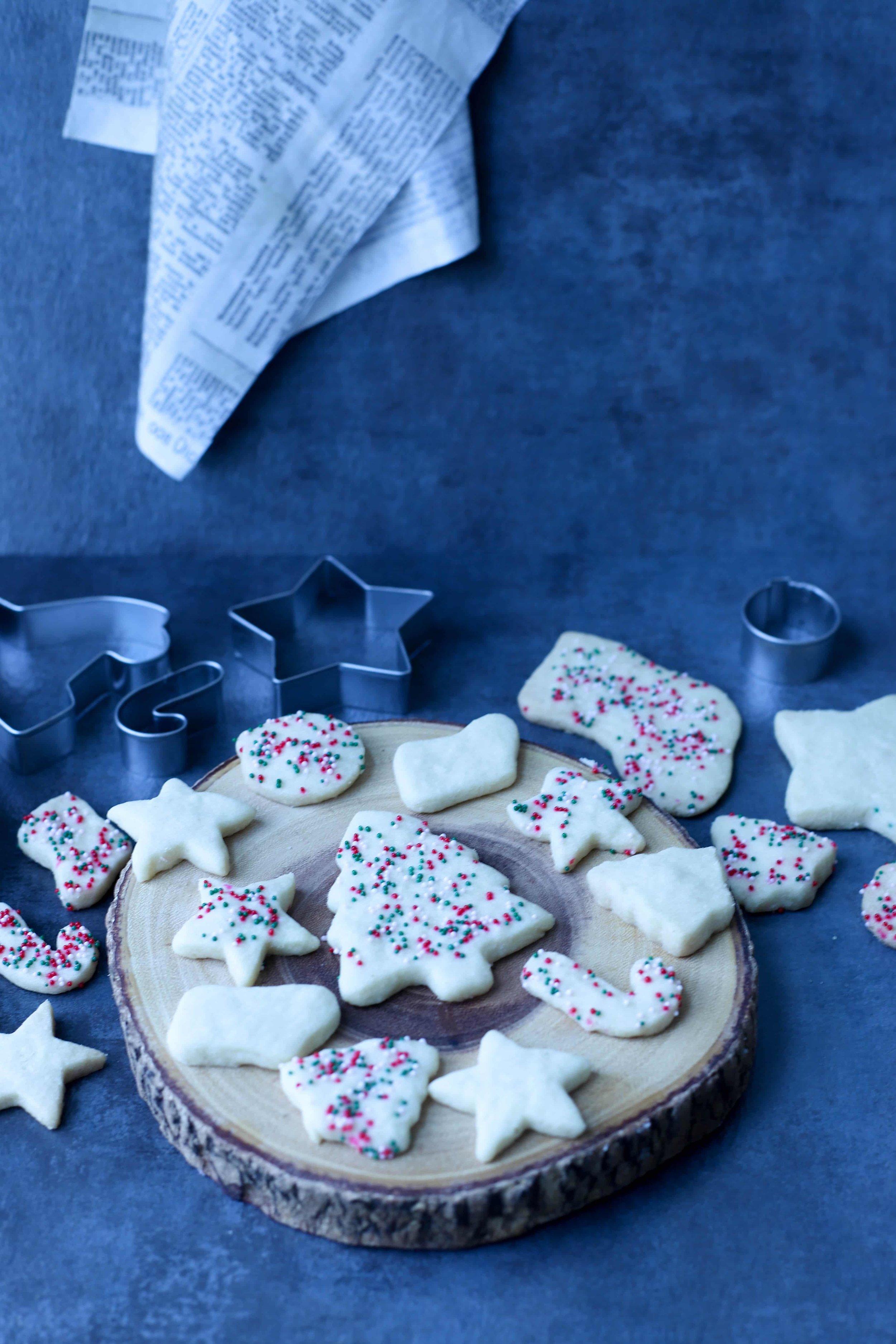 Holiday Shortbread Ghee Cookies
