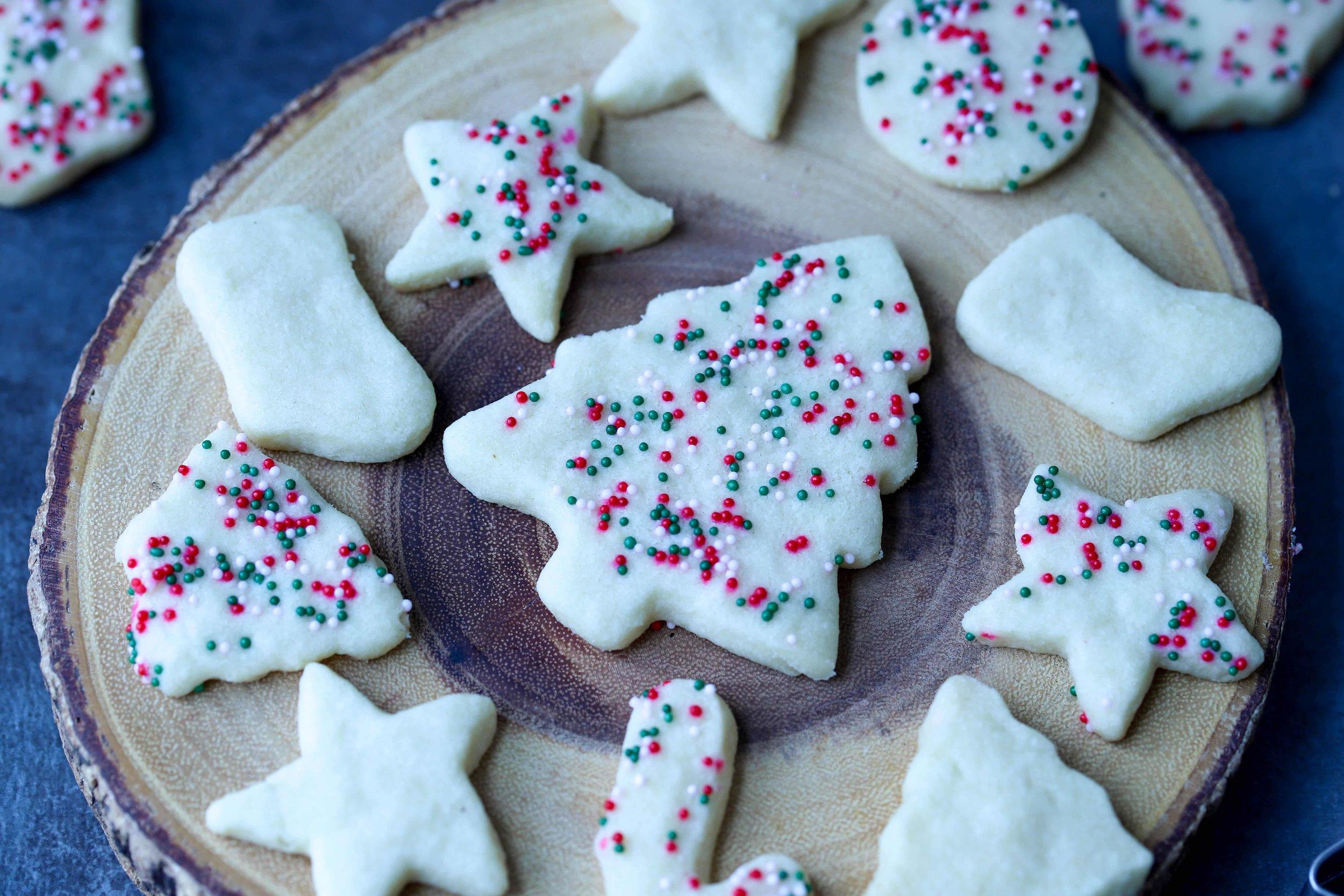 Shortbread Ghee Cookies, Holiday Cookies