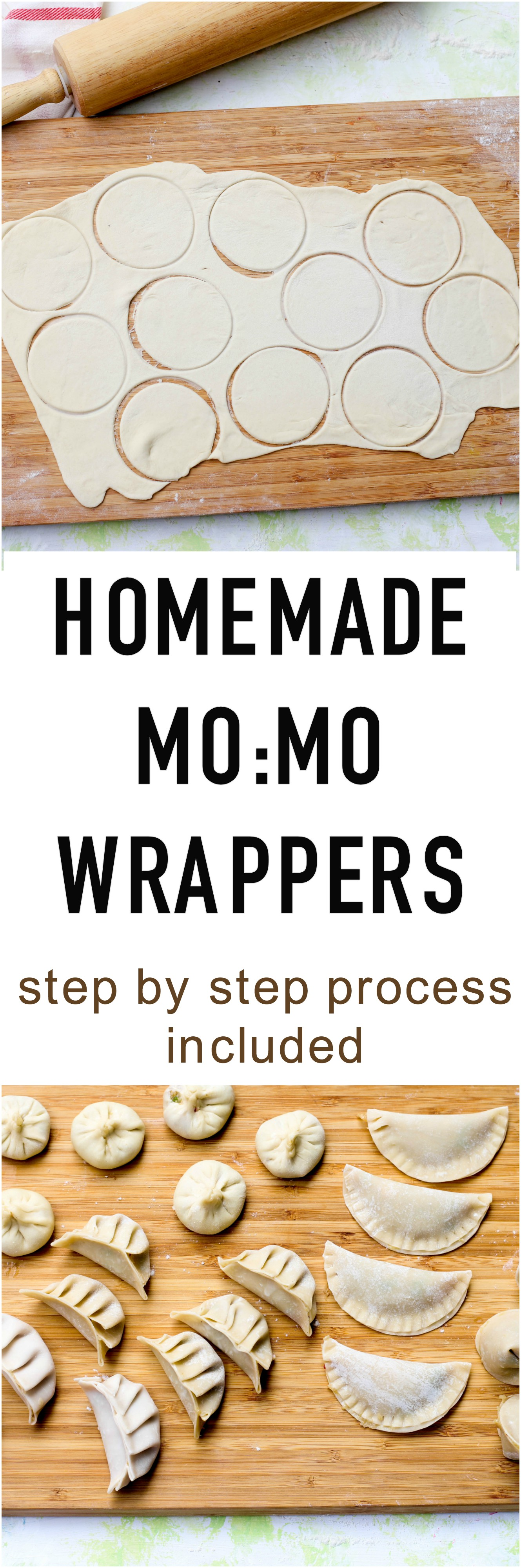 homemade momo wrappers, dumpling wrapper