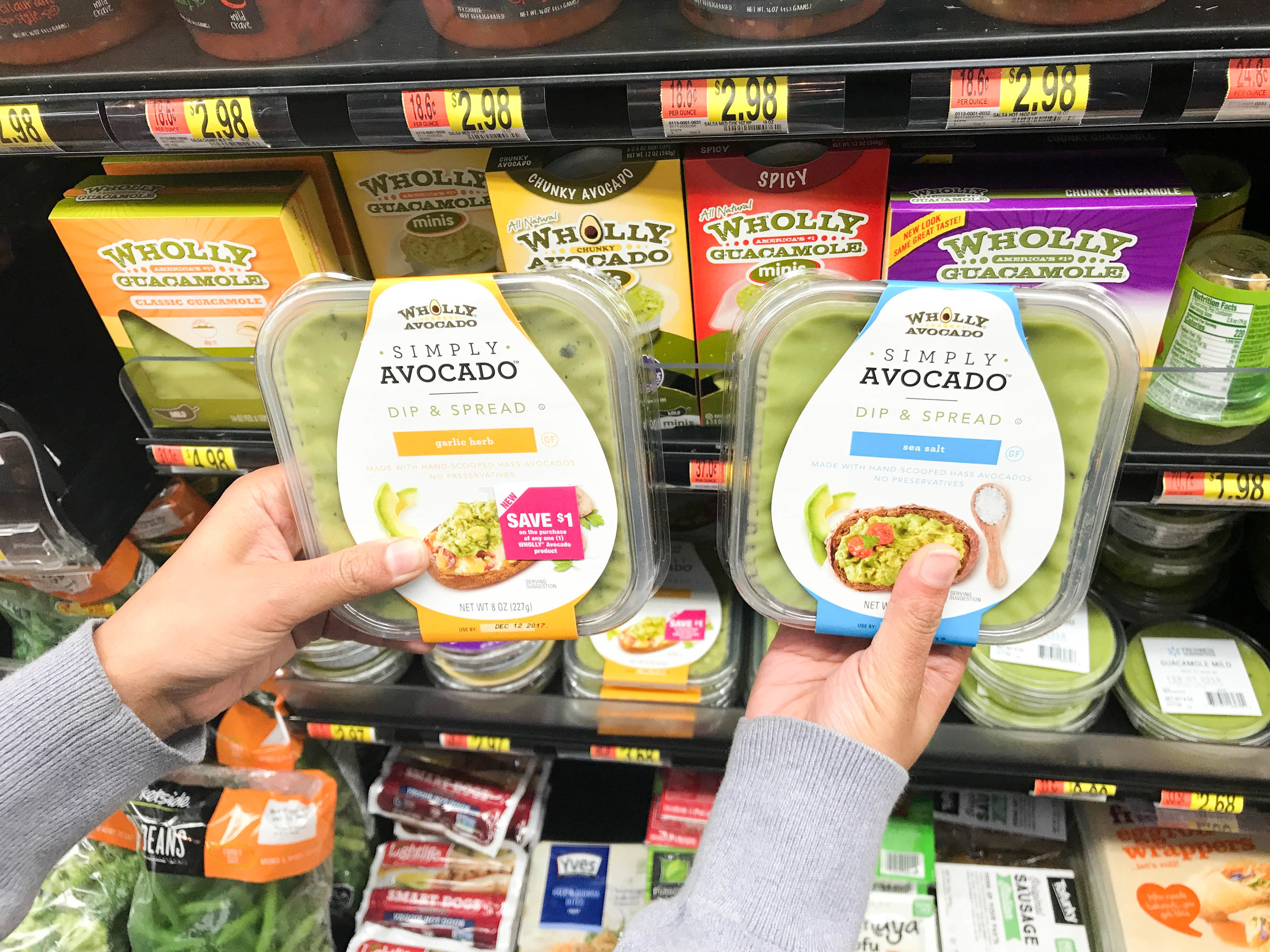 - I hope you will pick up few SIMPLY AVOCADO™at your local Walmart. It is conveniently located in the cooler by the deli area.