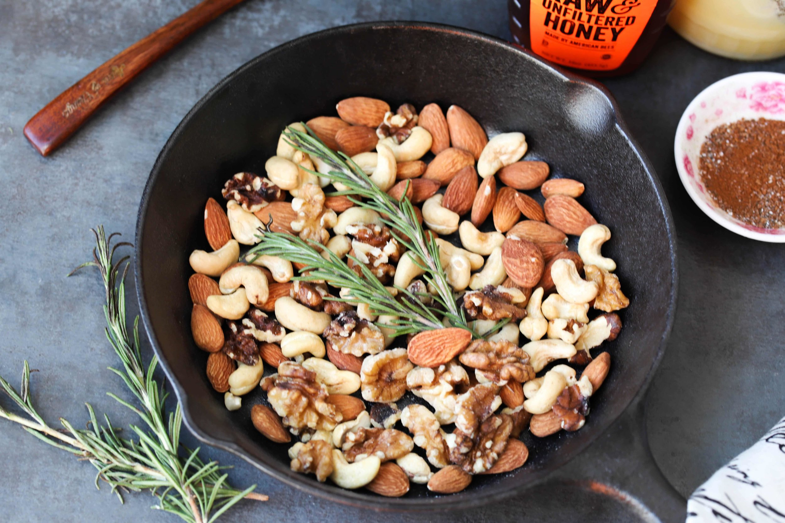 Holiday Spiced Nuts, Easy Stovetop