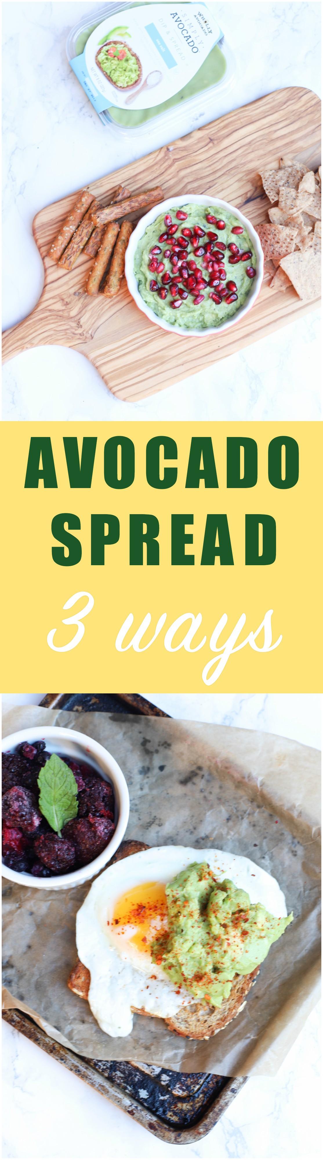 Enjoy Avocado Spread 3 Ways for parties, snacks, and utilizing leftover.