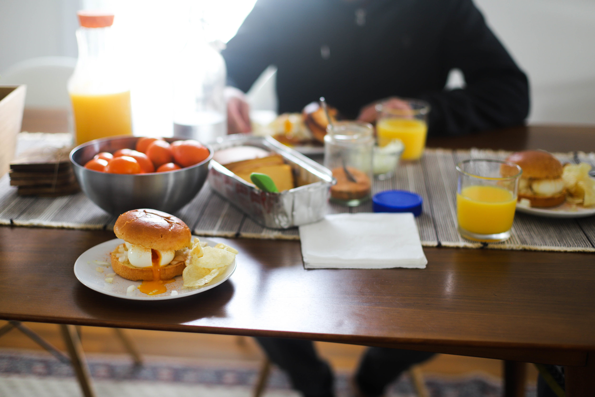 smashed egg sandwich