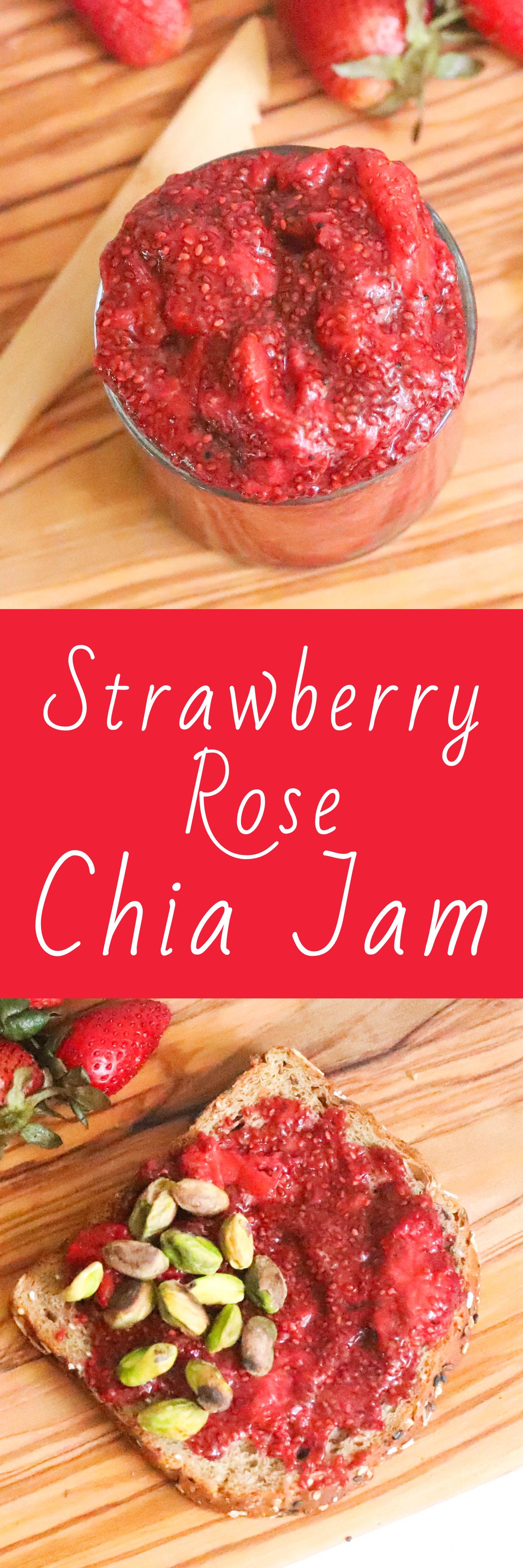 Strawberry Rose Chia Jam