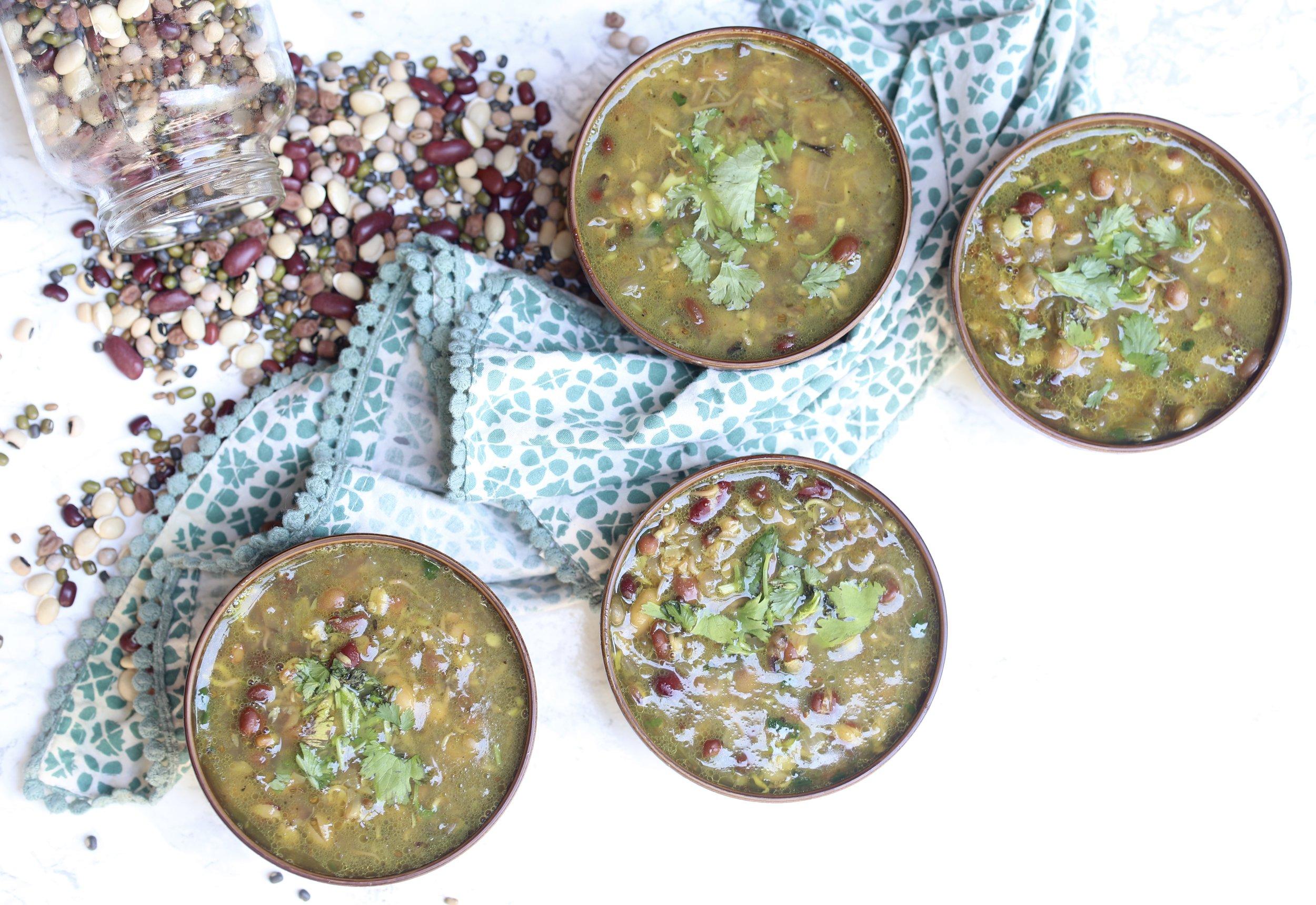 Nepali Kwati {Sprouted 9 Bean Soup}