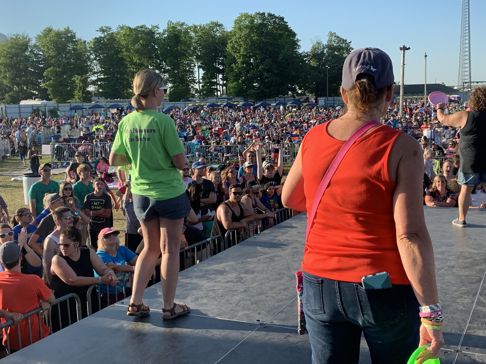 Sharing Opportunities to ConnectDuring the festival, videos ran on the big screens letting attendees know how they can connect with Unveiled Ministries. And some lucky event-goers received a butterfly Frisbee! -