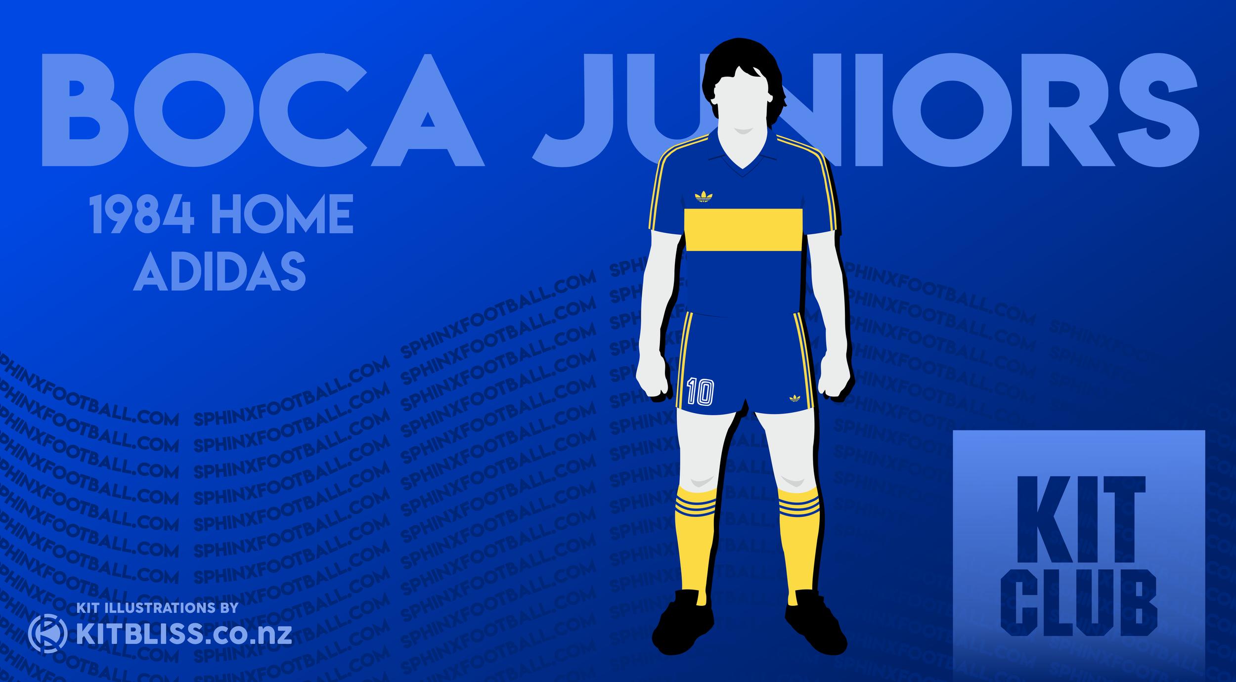 size 40 159f5 1d798 Kit Club Ep 005: Boca Juniors Home 1984 — SPHINX FOOTBALL