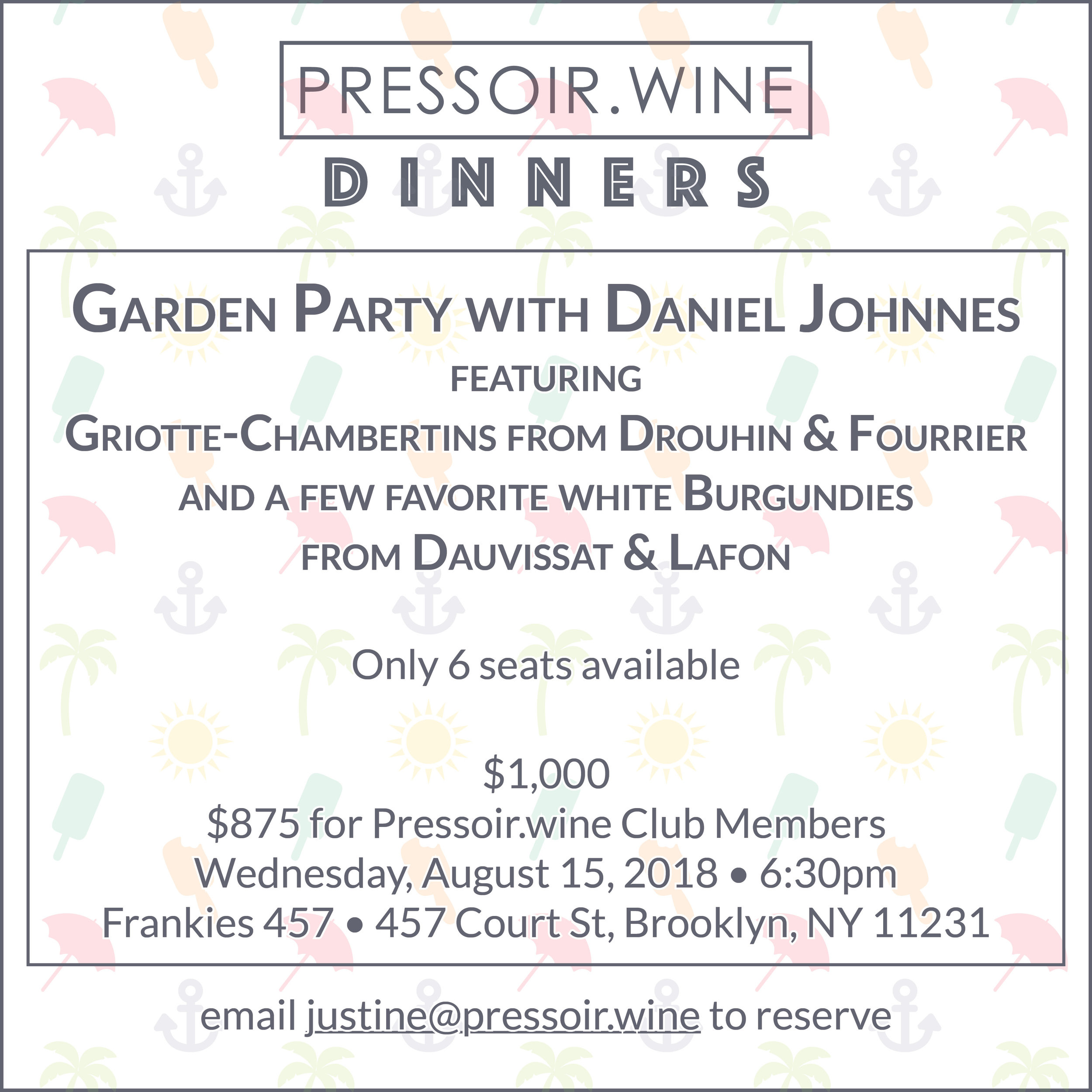 Pressoir Wine Frankies Dinner.jpg