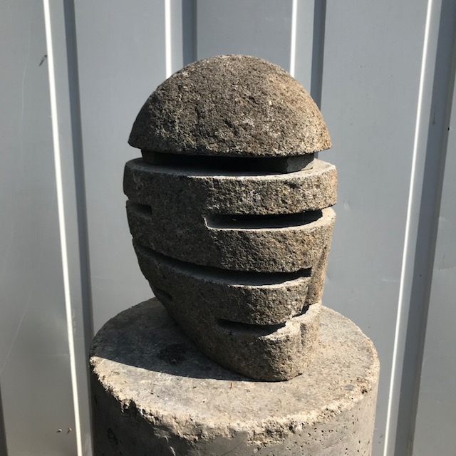 Garden lamp made of river stones