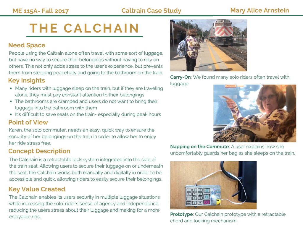 Designing for the Caltrain transportation experience.