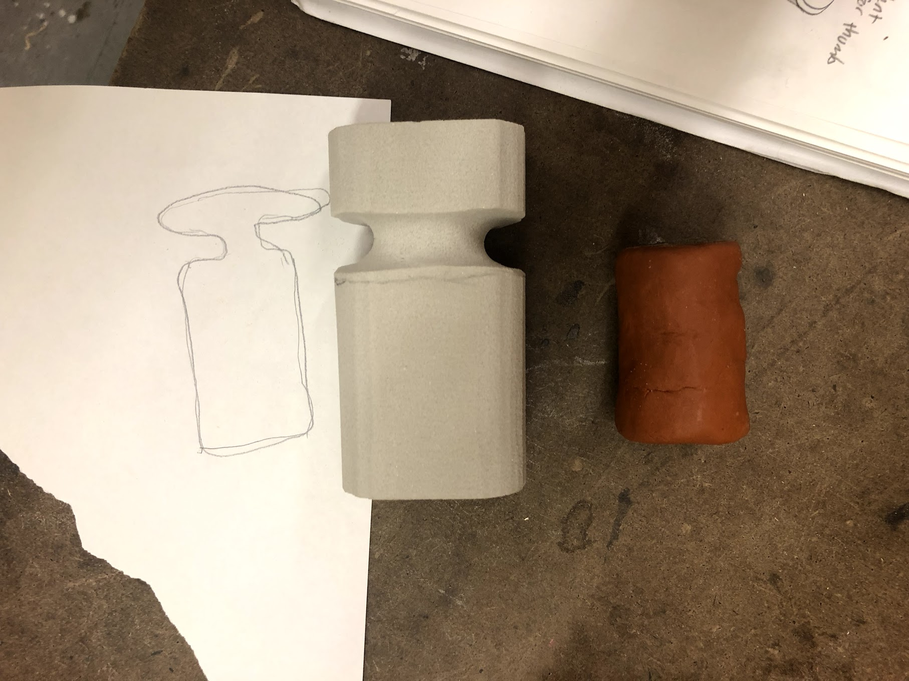 Using the orthographic projection to shape my model.