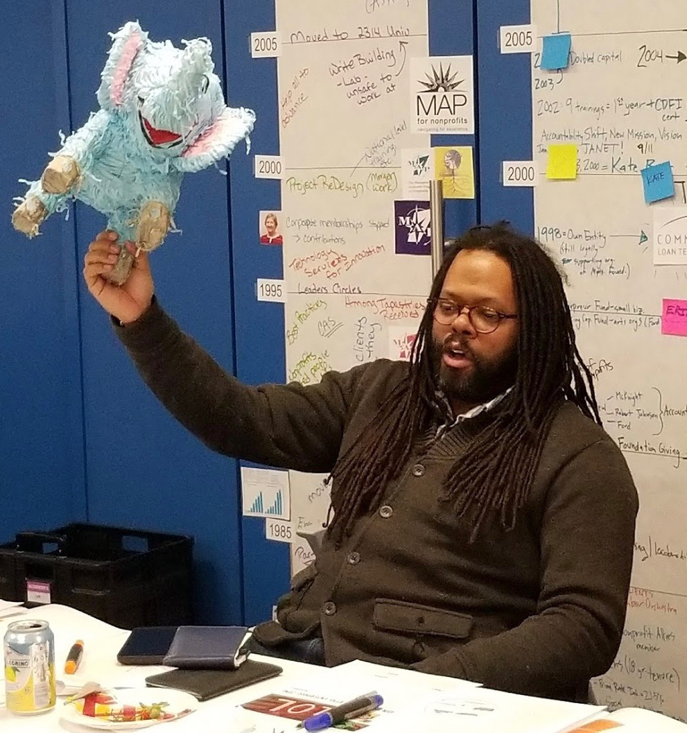 Rashan Moore outed the elephant in the room at a recent board training session.