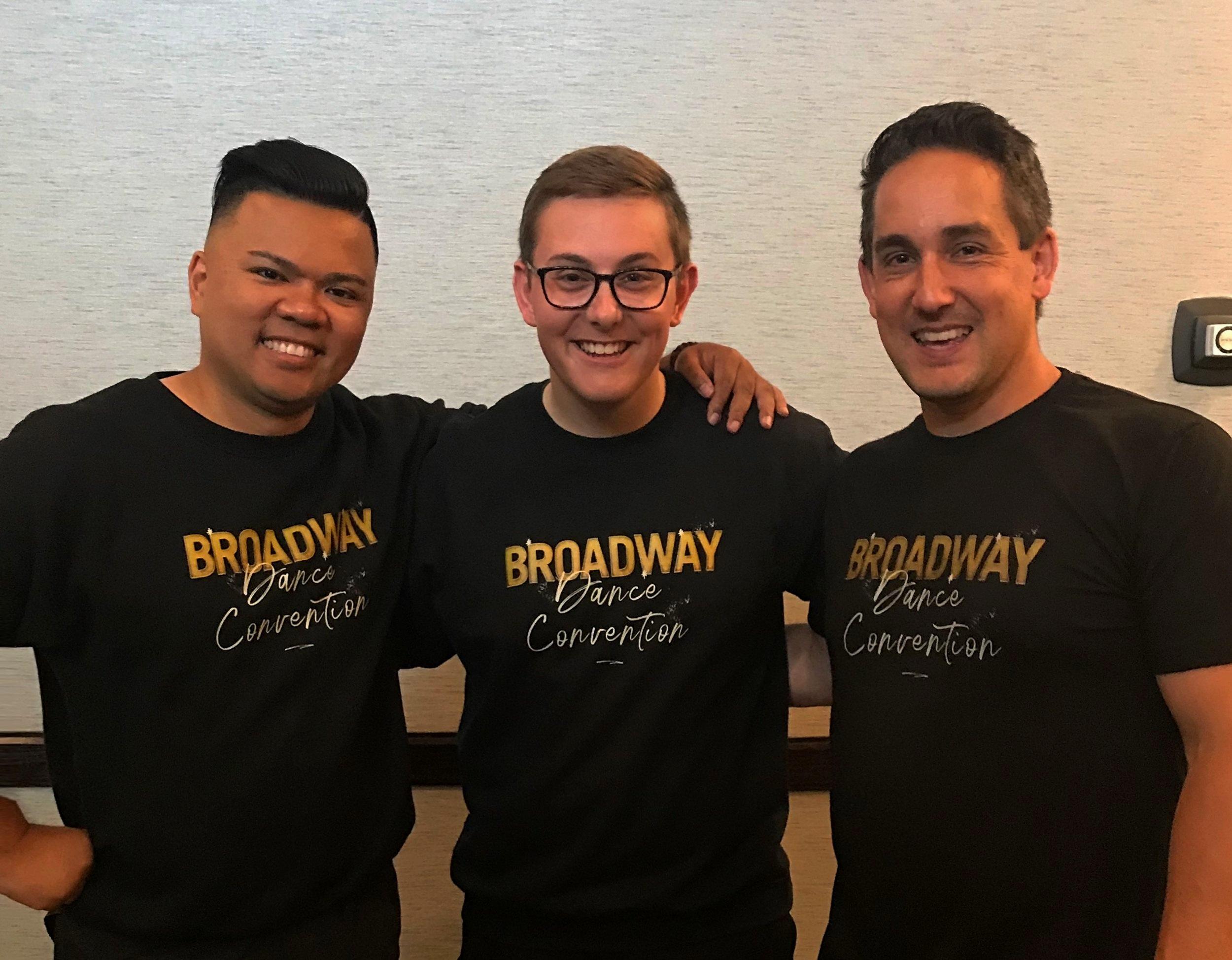 Joseph Sevillo, Tyler Leighton & Tad Kojima - Broadway Dance Convention Co-Directors