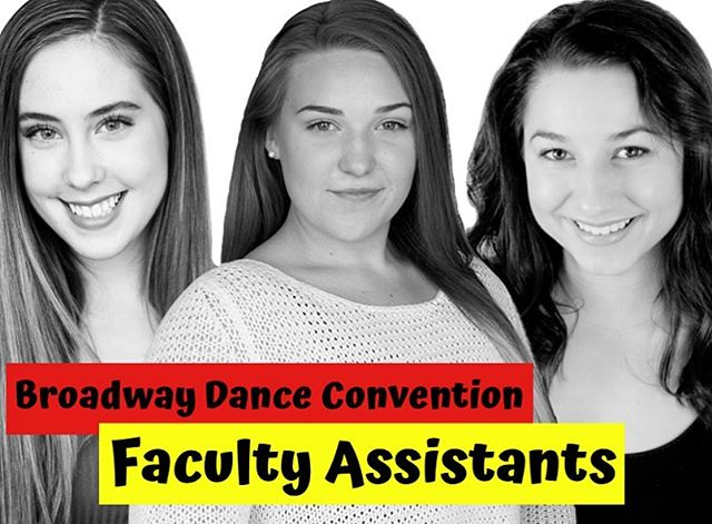 Introducing our #BDC2019 Faculty Assistants for June 22nd!! 🙌🏼💗 Sara Buffie - @sarabuffie  Mara Turenne - @marasadie  Alyssa Crockett - @alyssacrockett 🌟We are so lucky to have them joining us this year as our Assistant teachers!! Come join us on June 22nd: Register Now!! 💐🎶 #bdc2019 #broadwaydance #registernow
