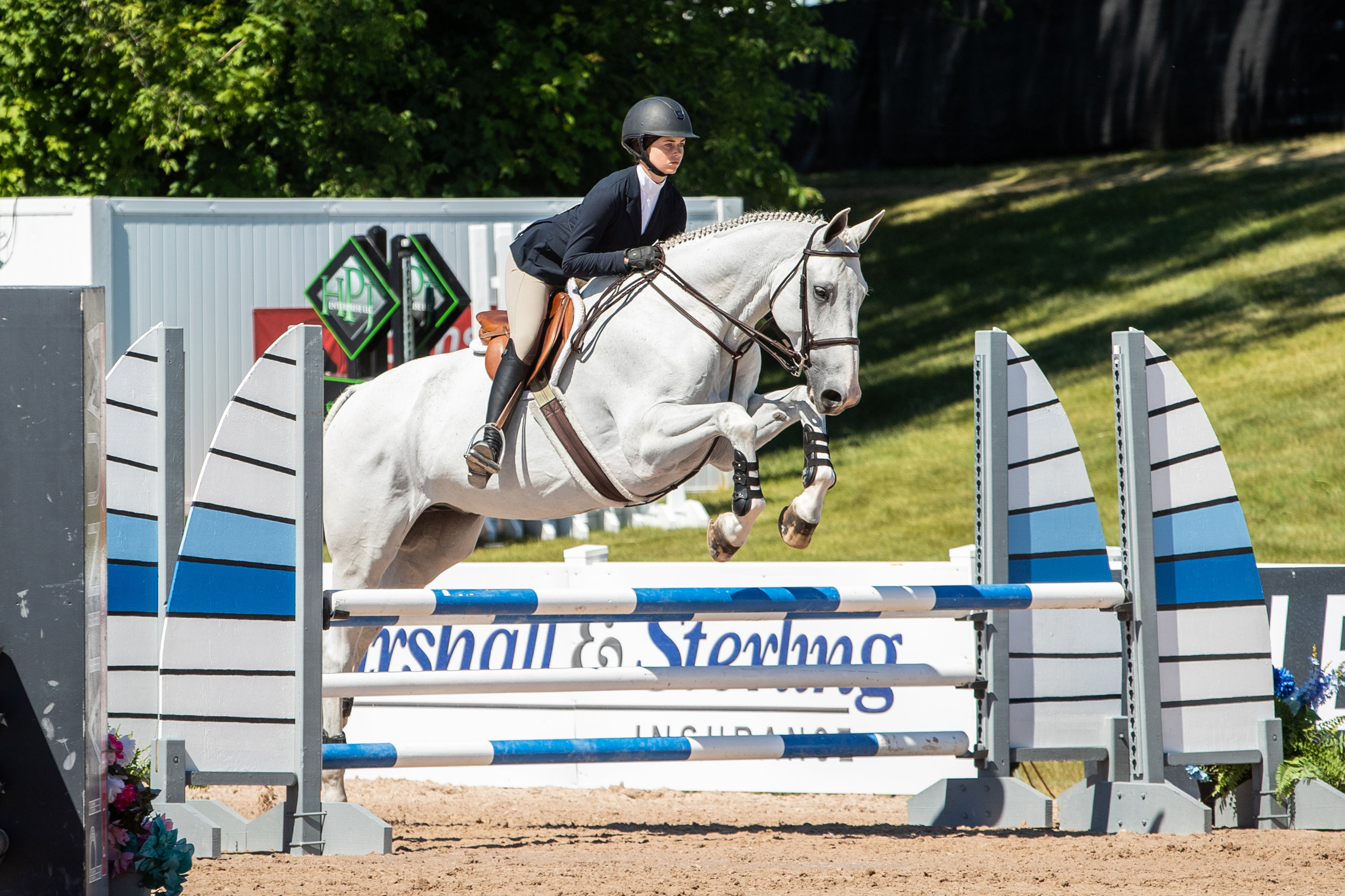 Hannah Hoch and E.V. Comander in the Equitation 12-14 Over Fences.