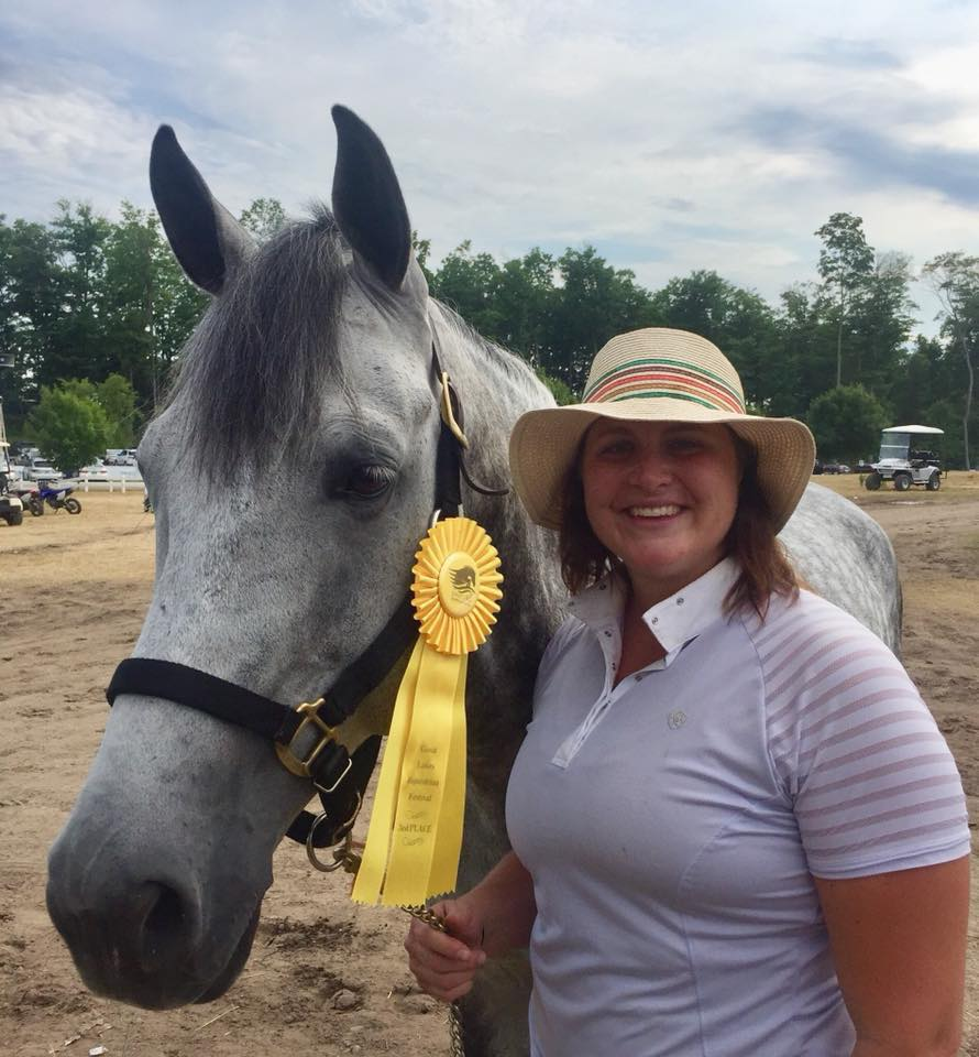 Katie Hawkins and Gray Street finished third in a competitive field of 22 entries in the Adult Amateur 18-35 Hunters!