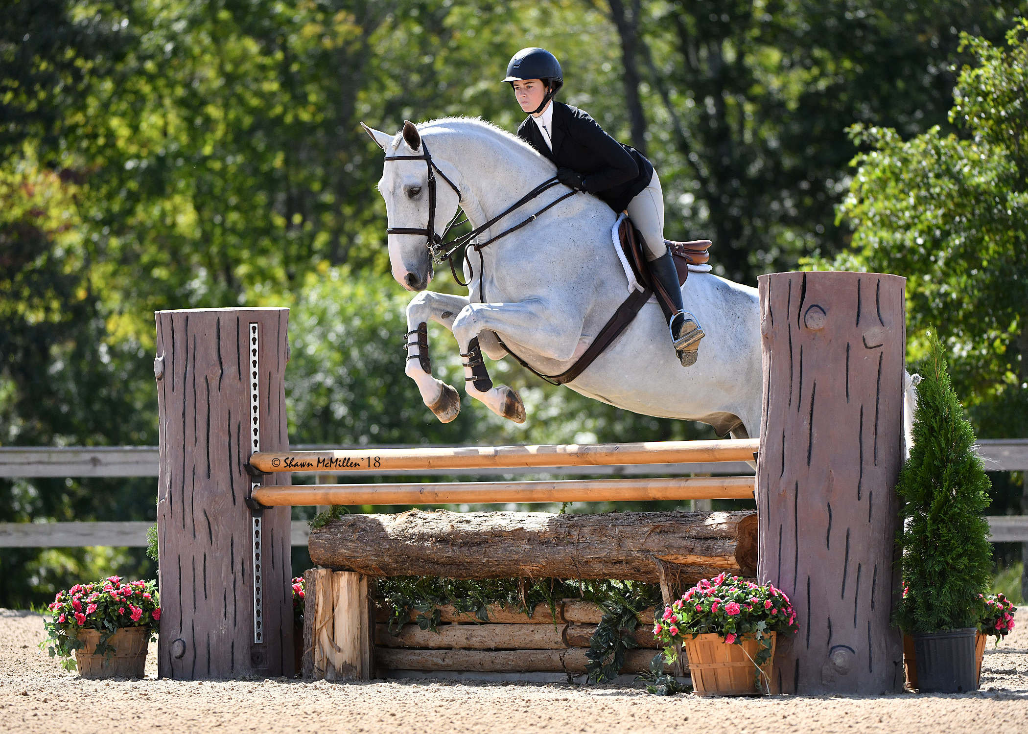 Hannah Hoch and E.V. Comander (a.k.a. Salty) at the 2018 Capital Challenge Horse Show. Photo by Shawn McMillen Photography