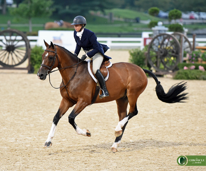 Caitlyn Shiels and Cassius competing at the Platinum Performance USHJA International Hunter Derby Championship. Photo by Kimberly Loushin for The Chronicle of the Horse.