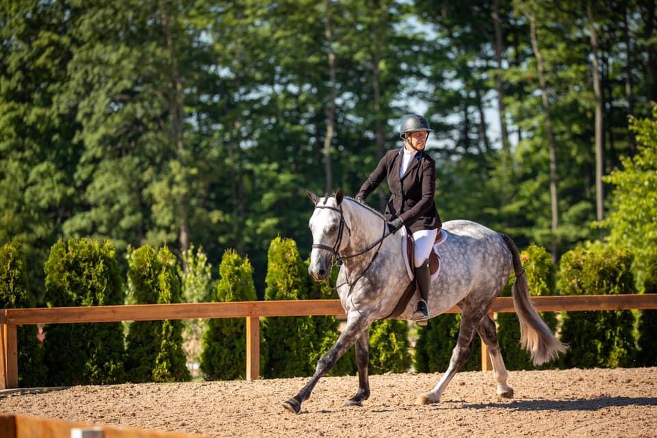 Caitlyn Shiels and CW Fringe Benefits. Photo by     Fine Art Horses