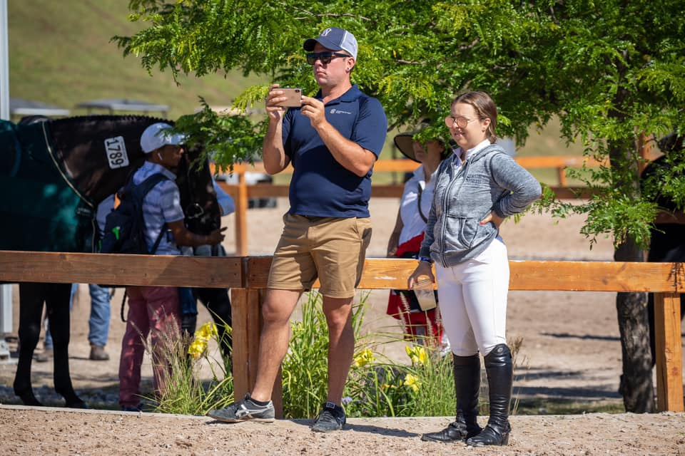 Shaun Sellers and Marisa Malevitis. Photo by     Fine Art Horses