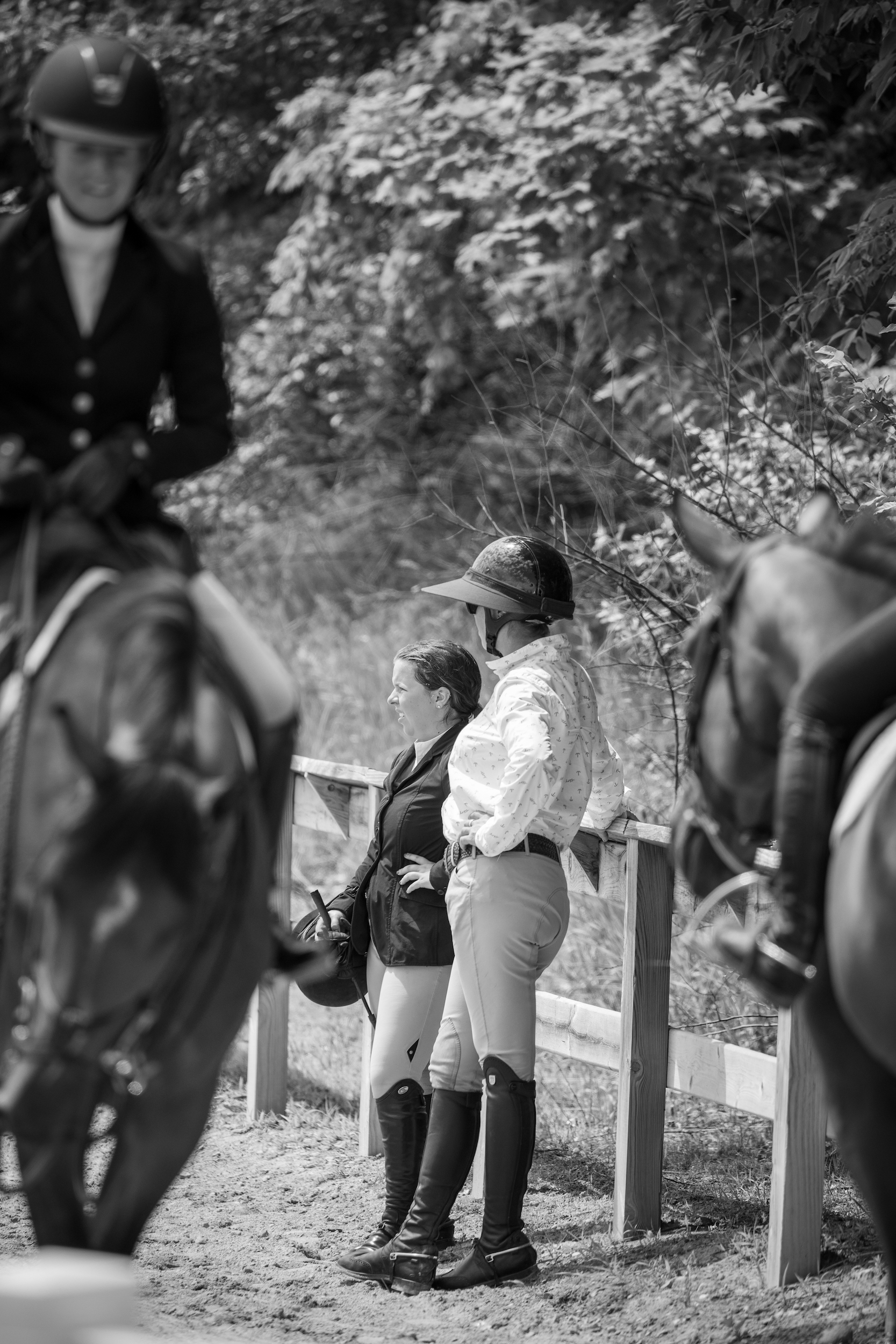 Marisa Malevitis and Caitlyn Shiels. Photo by     Fine Art Horses