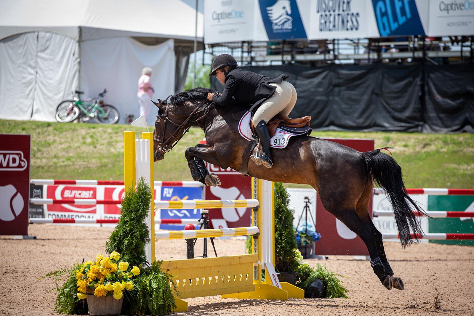 Michelle Durpetti and Serafina. Photo by    Fine Art Horses