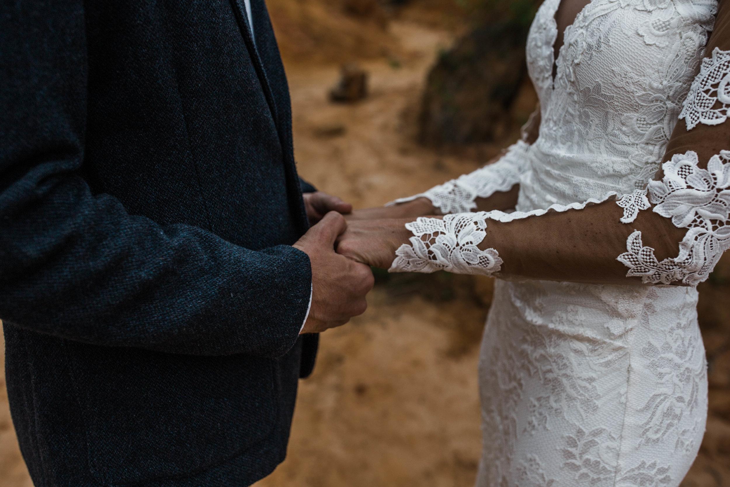 Vow exchange. Beautiful elopement in Pensacola FL