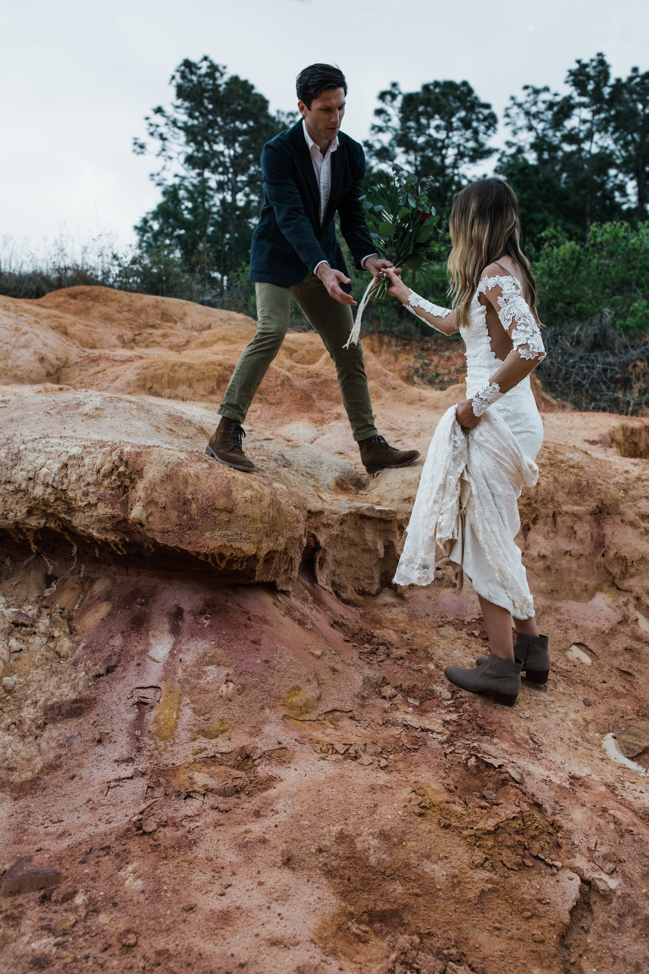 You wouldn't believe this desert adventure elopement is shot in Florida