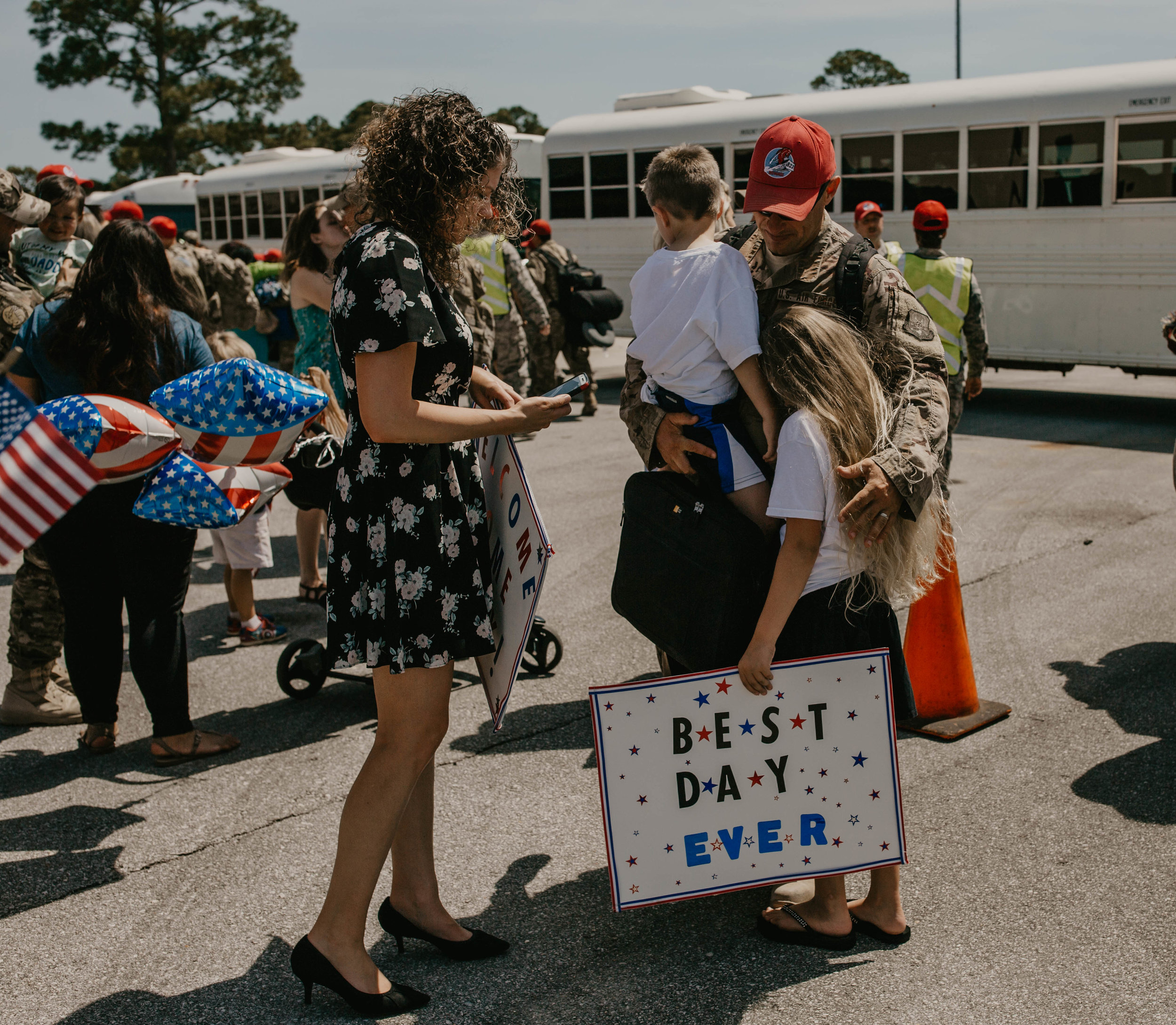 """""""best day ever"""" Military homecoming"""