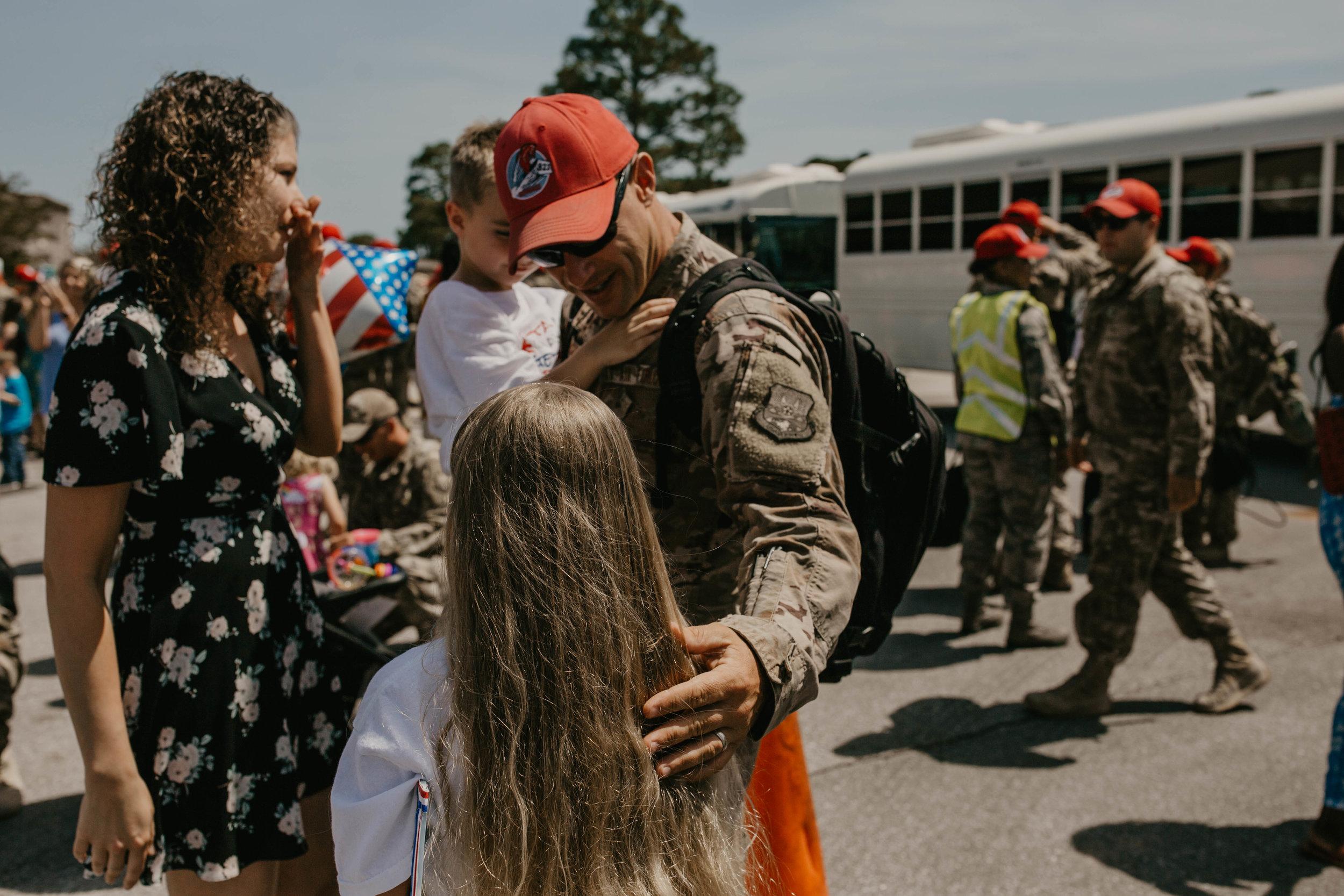 Military deployment reunion