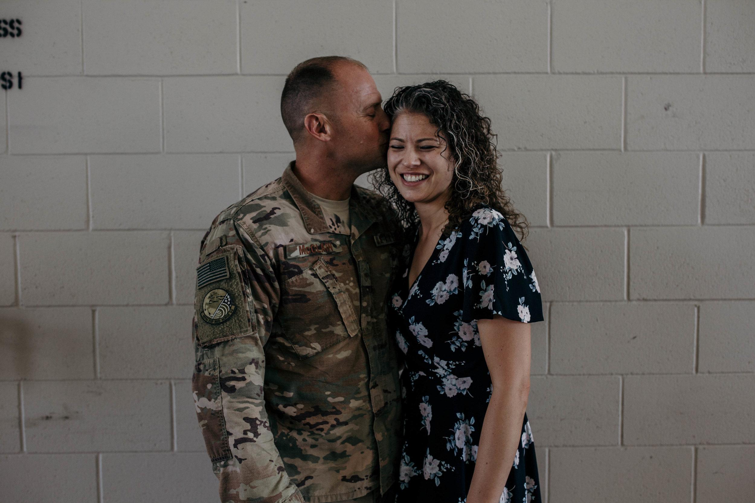 Heart felt military homecoming after a long deployment