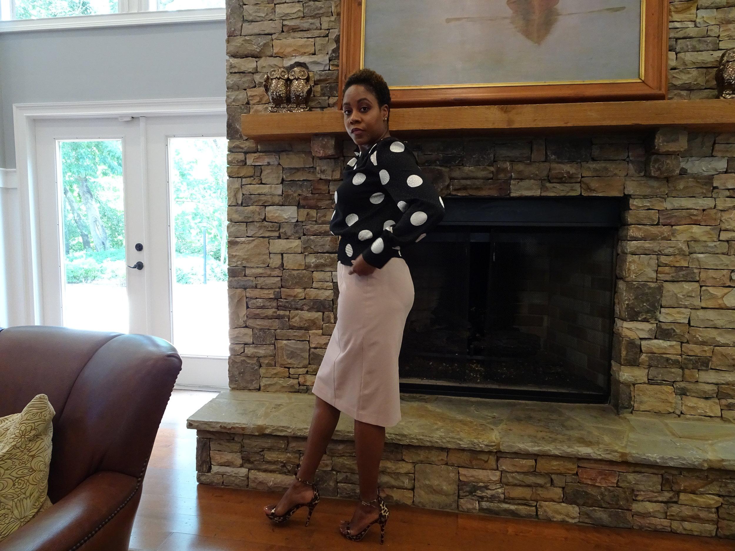 Shirt & Skirt: ASOS Shoes: DSW