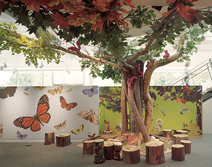 Murals by Ben Schonzeit and sculpture by Sandy Skoglund