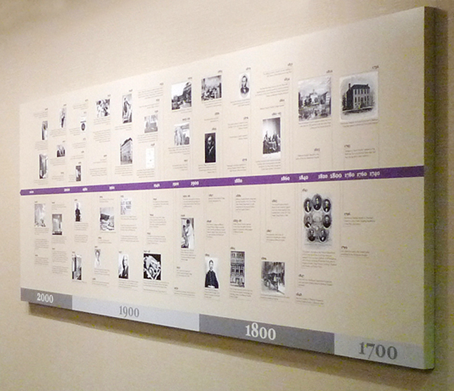View of the Time Line wall, NYU Langone Medical Center