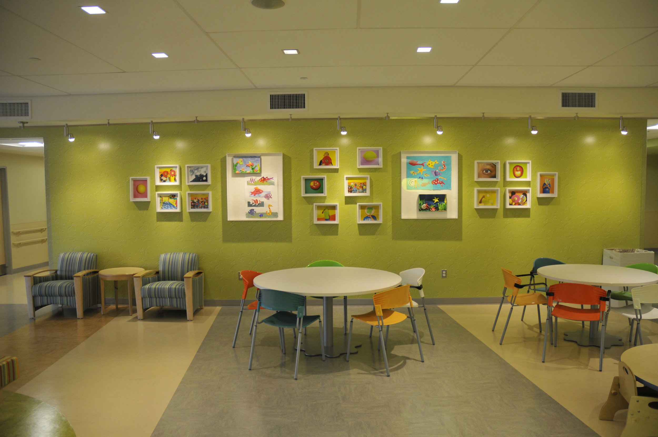 Artworks by St Mary's children in collaboration with Kathleen Lee
