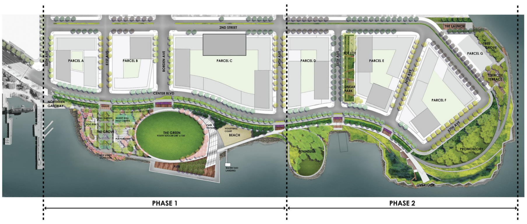 Design Plan of Hunter's Point South Phase II