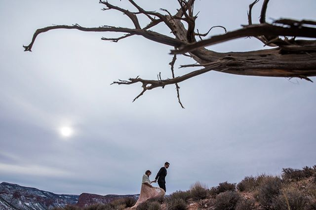 Matt and Rachel just moments after they tied the knot in Gateway, Colorado. That place is rad! #elopeinstead