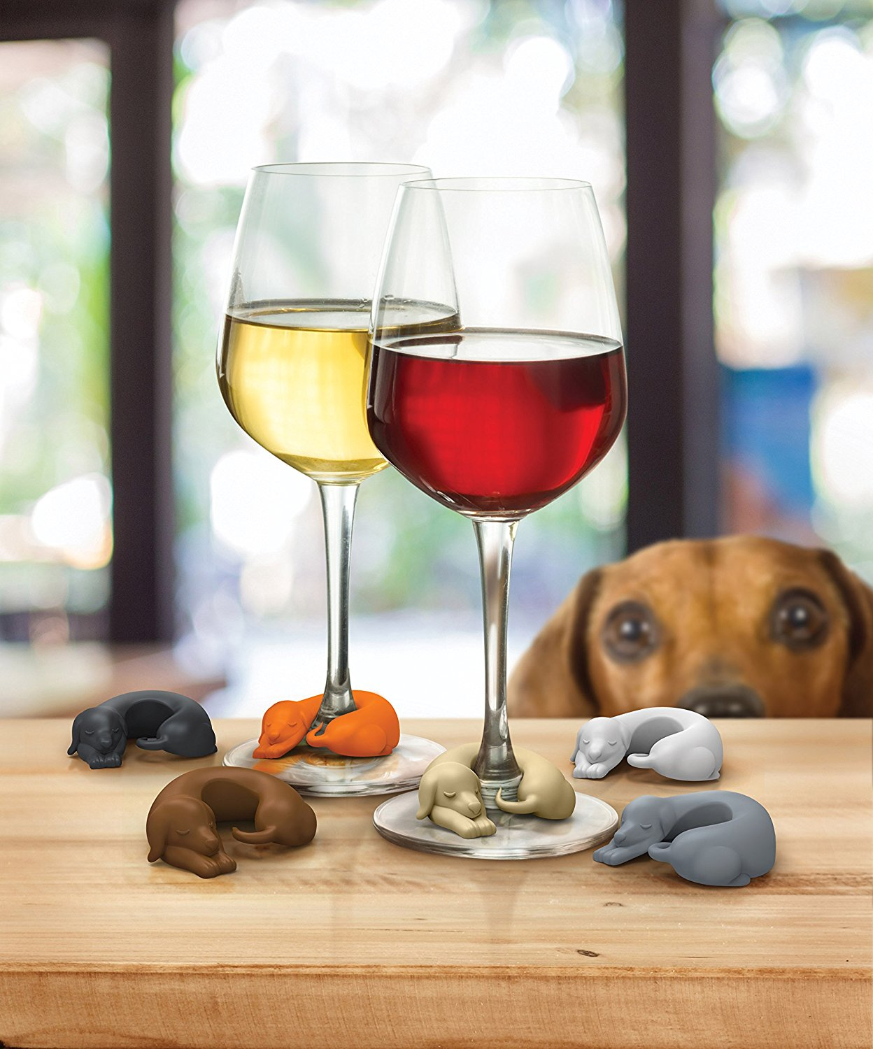 Dog Wine Markers   Do you love drinking wine? Do you love drinking wine with friends? Keep track of which glass is yours