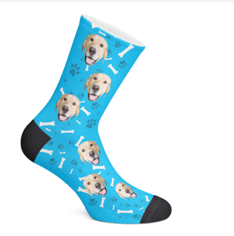 PupSocks  Who doesn't want socks with their pup's faces on it?