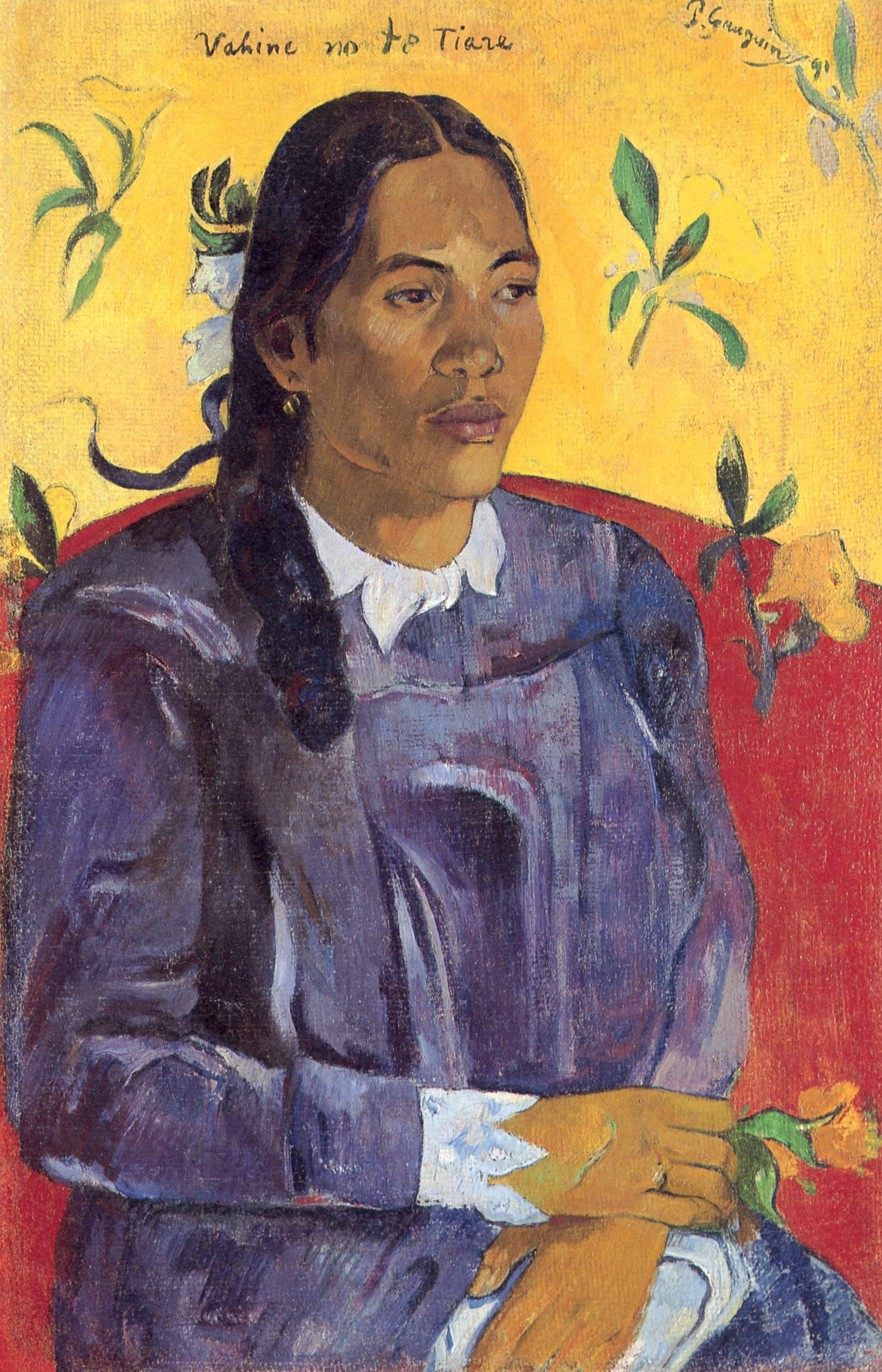 Paul Gauguin,  Vahine no te Tiare (Woman with a Flower),  1891