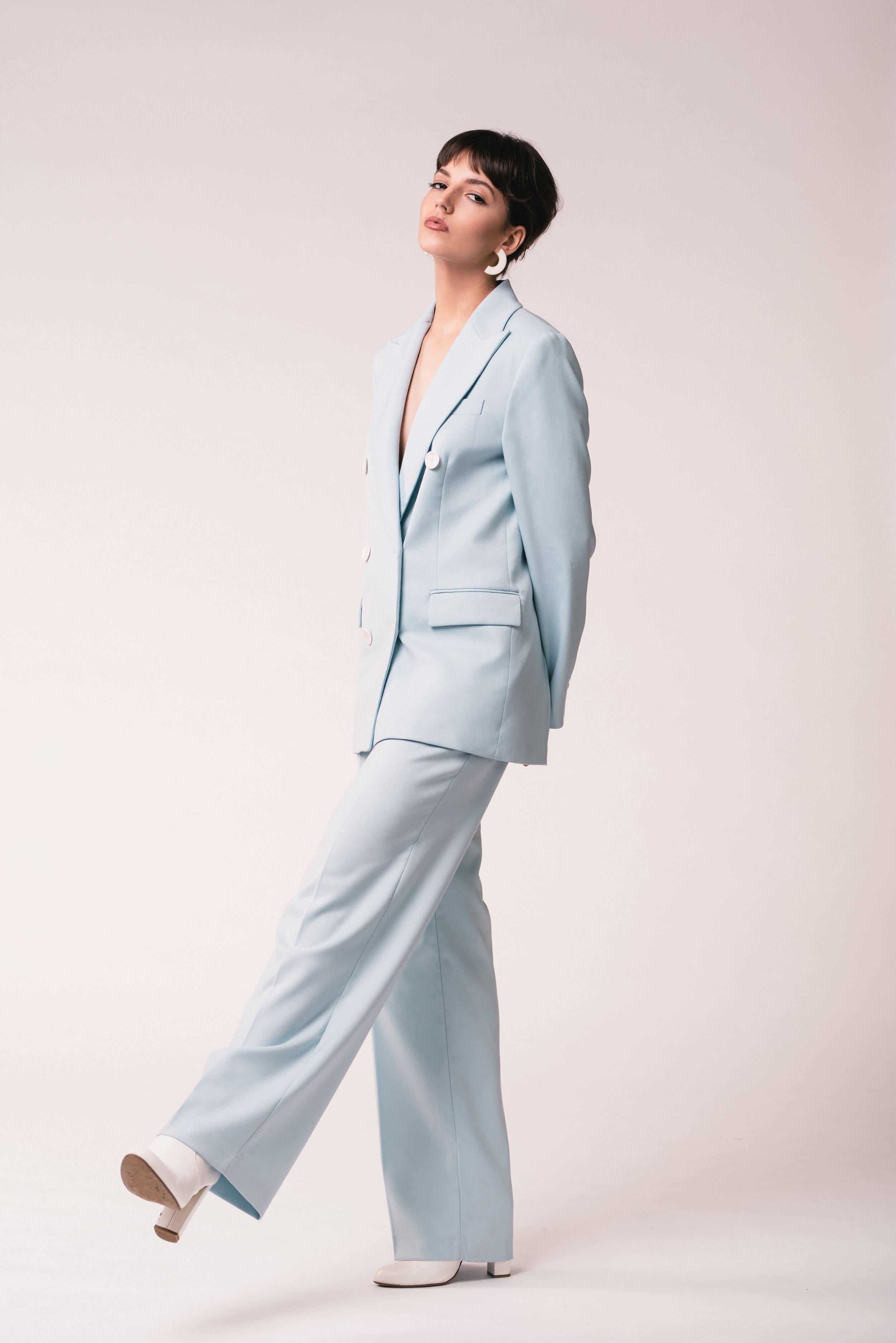 Suit: Zara  Boots: Steve Madden
