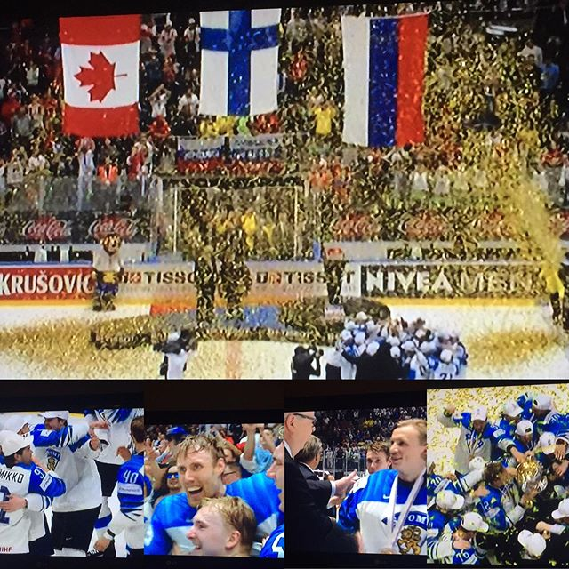 #huipullenaiset Onnittelee, Leijonat! Poika tuli kotiin. 🏒🥇🏆 Finland just won the icehockey world Championship. #congratulations #finland #ceepcalmandwin #finnishlions #iihf #icehockey #worldstar  #championships #go #believe #yourself #positive #thinking #forward #teamwork #team #play #party