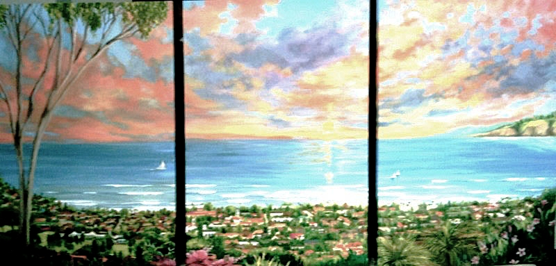 CASEY'S VIEW | OIL | TRIPTYCH | 72X90