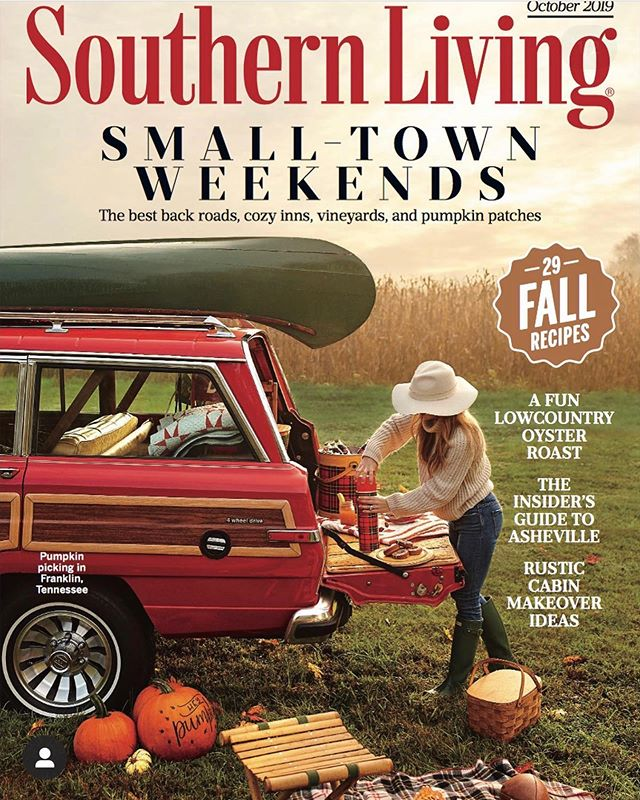 Beyond proud and excited for @katiejacobsnashville and her gorgeous cover of Southern Living!! No big deal 💁🏼♀️! And so excited me, the boys, and our crazy English Springer Lexie (yeah, bet they regretted that choice!) got to be apart of it!  Check out Katie and her gorgeous spread on stands!! Oh and keep your eyes peeled for my cute pumpkins and tags that made the cut, GW and Jack exploring @gentrysfarm pumpkin patch and the blur that is a crazy dog after some apple pie!! 🐶🐶🥧🥧 #itsfallyall #southernliving #gentrysfarm #pumpkinpatch