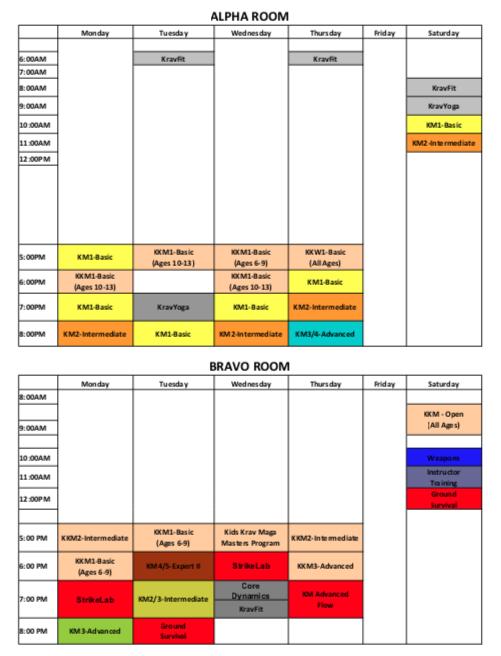Krav Maga Dallas Schedule 4-19.png
