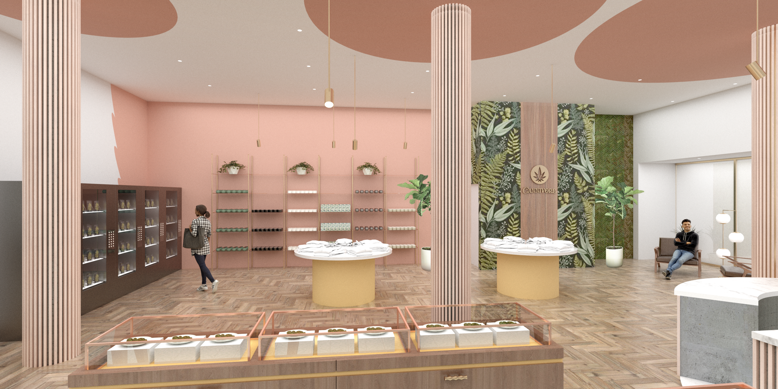 Proposal for a Cannabis Shop in Toronto - Done in collaboration with Iron Ladle