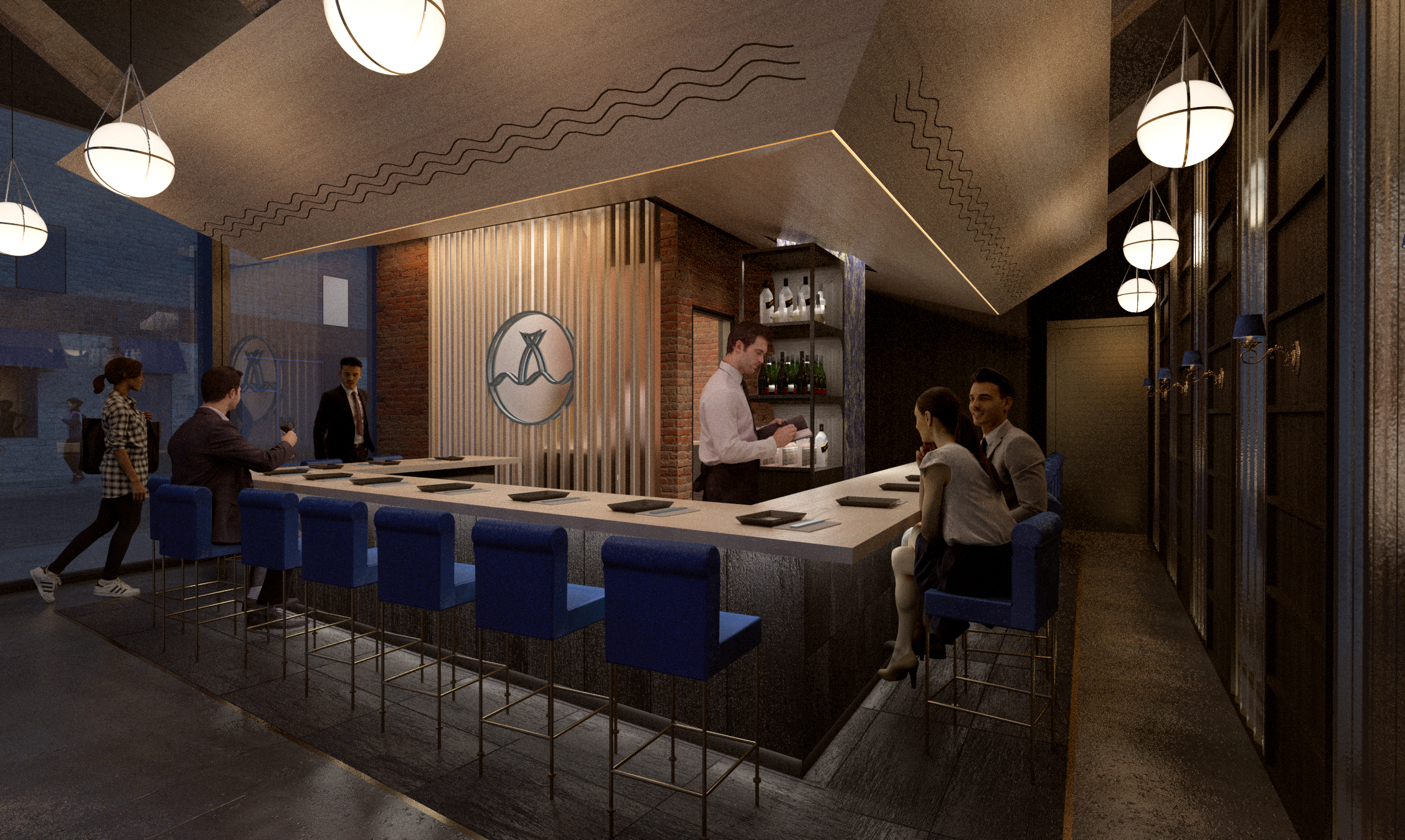 Design consultation & visualization for Bondi Sushi