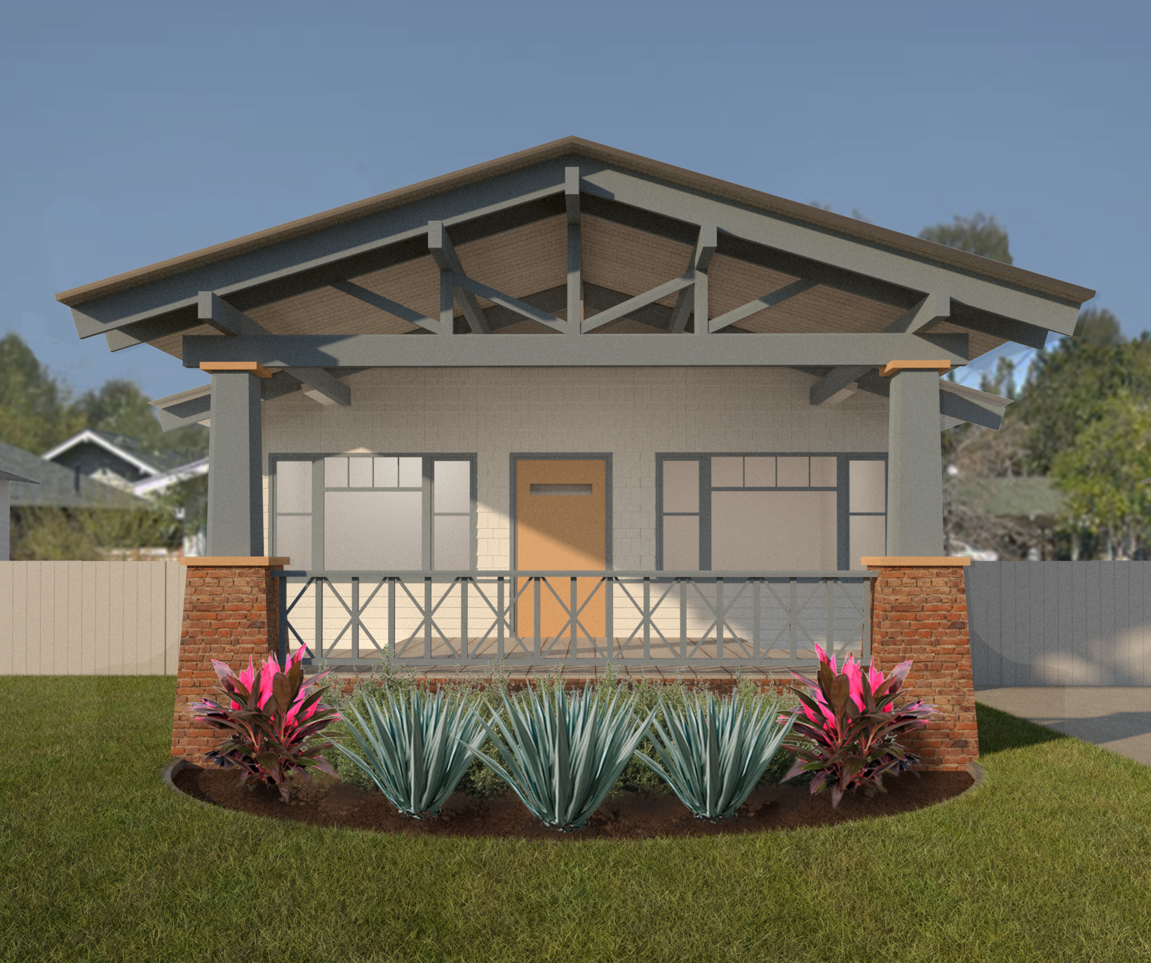 Design for a remodel of a historical craftsman house in Long Beach, CA - currently being designed and permitted by BNDL LLC.