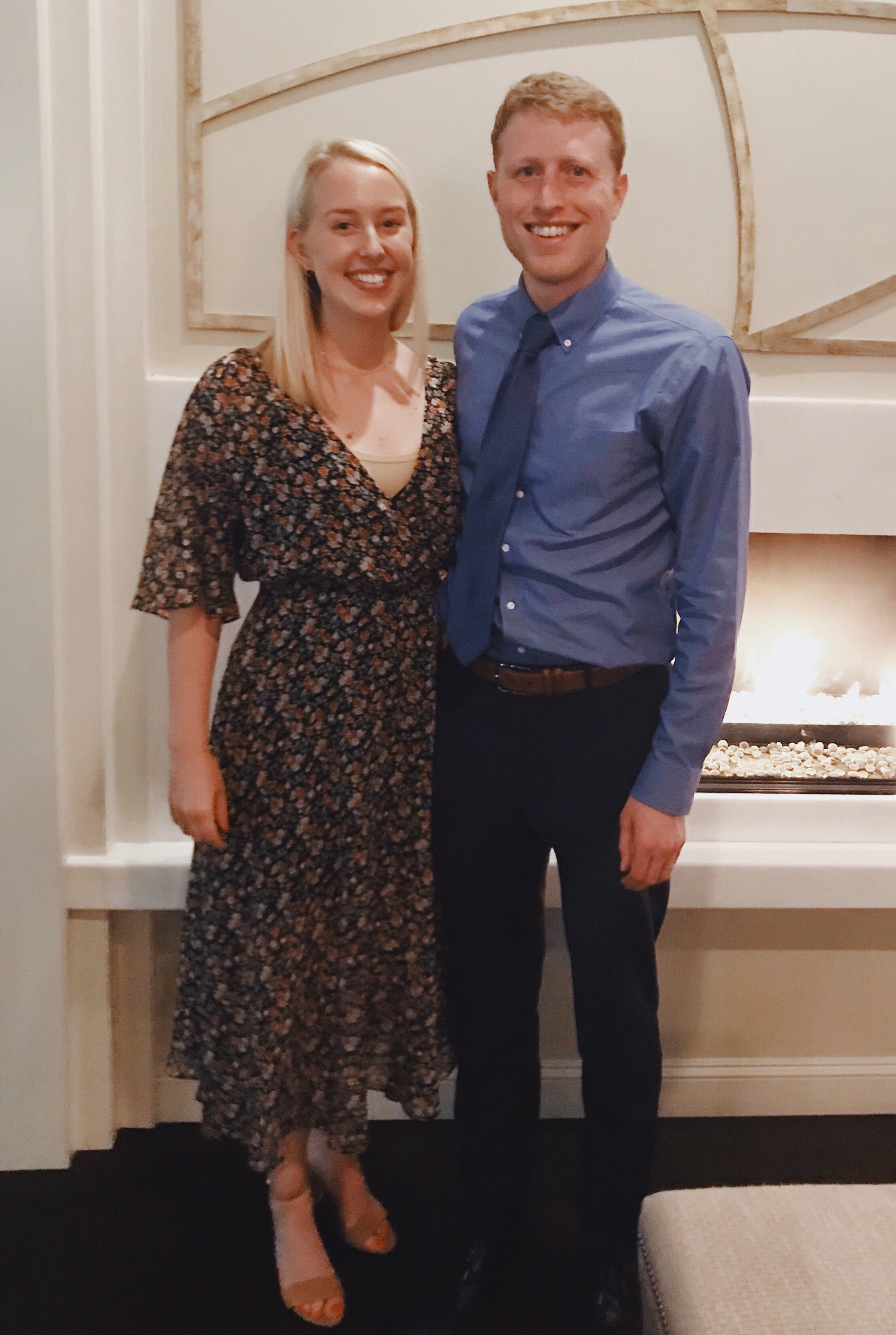 Dress is  Rebecca Minkoff ; Shoes are  Sam Edelman